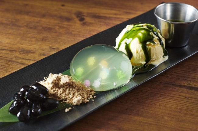 ハードロックカフェ京都レインドロップケーキ アイスクリーム添え