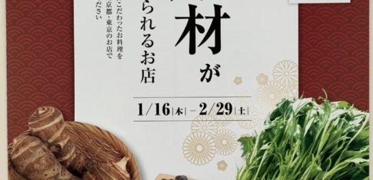 美味しい京の食材が食べられるお店